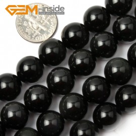 """G1950 12mm Natural Round Black Obsidian Beads Jewelry Making Gemstone Loose Beads 15"""" Natural Stone Beads for Jewelry Making Wholesale`"""