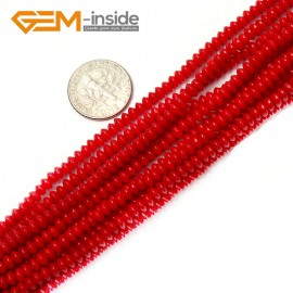 "G2134 2x4mm Rondelle Red Coral Beads Jewelry Making Gemstone Loose Beads Strand 15"" Gbeads Natural Stone Beads for Jewelry Making Wholesale"