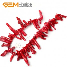"""G2159 40-50mm Branch Genuine Red Coral Beads Strand 15"""" Jewelery Making Loose Beads Gbeads Natural Stone Beads for Jewelry Making Wholesale"""