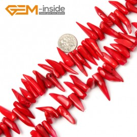 "G2161 8x22-8x28mm Branch Genuine Red Coral Beads Strand 15"" Jewelery Making Loose Beads Gbeads Natural Stone Beads for Jewelry Making Wholesale"