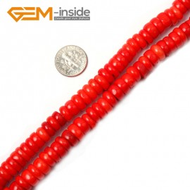"G2181 3x10mm Geuine Light Coral Gemstne Loose Beads Strand 15"" Jewelery Making Beads Gbeads Natural Stone Beads for Jewelry Making Wholesale"