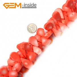 "G2239 15X23MM(PINK) pretty drop gemstone coral loose beads strand 15"" jewelery making beads Natural Stone Beads for Jewelry Making Wholesale"