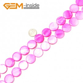 "G2324 plum/20mm Coin Gemstone Sea Shell Jewelery Making Loose Beads Strand 15"" Pick Colors &Size Natural Stone Beads for Jewelry Making Wholesale"