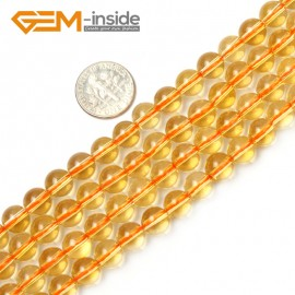 """G2360 8mm Round Citrine Beads Jewelry Making Gemstone Loose Beads Strand 15"""" 2-14mm Natural Stone Beads for Jewelry Making Wholesale"""