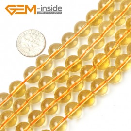 "G2361 10mm Round Citrine Beads Jewelry Making Gemstone Loose Beads Strand 15"" 2-14mm Natural Stone Beads for Jewelry Making Wholesale"