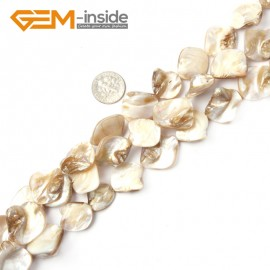 "G2393 White Free Shipping Freeform Sea Shell Loose Beads strand 15""Jewelery Making 15x20mm Natural Stone Beads for Jewelry Making Wholesale"