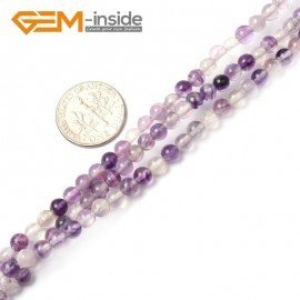 """G2409 4mm Round Natural Fluorite Loose Beads Strand15"""" Jewelry Making Beads 2-16mm Pick Natural Stone Beads for Jewelry Making Wholesale"""