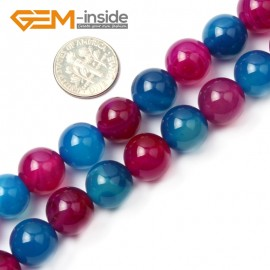 "G2609 12mm Round Mixed Color Agate Beads Strand 15""  8-16mm Jewelry Making Gemstone Beads Natural Stone Beads for Jewelry Making Wholesale"