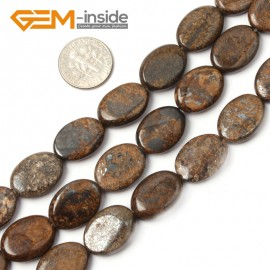"G2627 13x18mm Oval Bronzite Gemstone Loose Beads Strand 15"" Jewelery Making Loose Beads Gbeads Natural Stone Beads for Jewelry Making Wholesale"