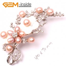 G2809 purple nice pearl white gold plated flower brooch pin 40x70mm Brooch Pin Fashion Jewelry Jewellery