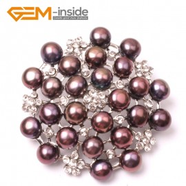 G2810 black nice pearl white gold plated peony flower brooch 48mm Brooch Pin Fashion Jewelry Jewellery