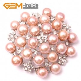 G2811 purple nice pearl white gold plated peony flower brooch 48mm Brooch Pin Fashion Jewelry Jewellery