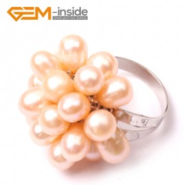 G2826 purple 6-7mm pretty pearl silver plated ring US #7 - #6 Rings Fashion Jewelry Jewellery