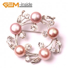 G2865 purple freshwater pearl white gold plated anade brooch 40mm  Brooch Pin Fashion Jewelry Jewellery