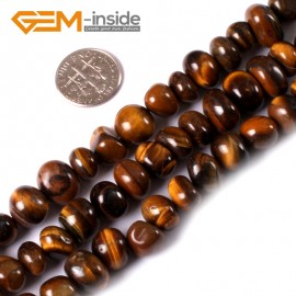 "G3417 yellow tiger eye 8-10x12-14mm Freeform Potato Gemstone Jewelry Making Loose Beads Strand 15"" Natural Stone Beads for Jewelry Making Wholesale"