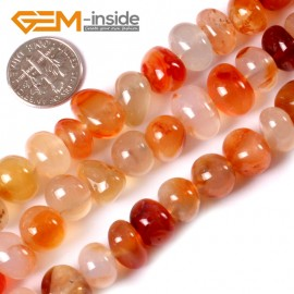 "G3425 red carnalian 8-10x12-14mm Freeform Potato Gemstone Jewelry Making Loose Beads Strand 15"" Natural Stone Beads for Jewelry Making Wholesale"