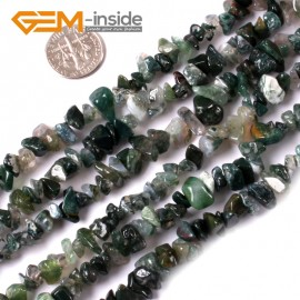 "G3473 Moss Agate 5-8mm Multi-Color Chips Gemstone Loose Beads Strand 15""& 34"" Free Shipping Natural Stone Beads for Jewelry Making Wholesale"
