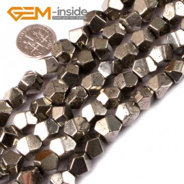 "G3600 8mm Natural Faceted Gemstone Silver Pyrite DIY Crafts Making Beads15""6mm 8mm 10mm  Natural Stone Beads for Jewelry Making Wholesale`"