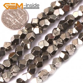 """G3602 6mm Natural Faceted Gemstone Silver Pyrite DIY Crafts Making Beads15""""6mm 8mm 10mm  Natural Stone Beads for Jewelry Making Wholesale`"""