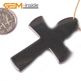 G3770 34X49mm (Cross) Black Gemstone Hematite Pendant Stone Beads 5 Pcs Multi-Shape Free Shipping Pendants Fashion Jewelry Jewellery