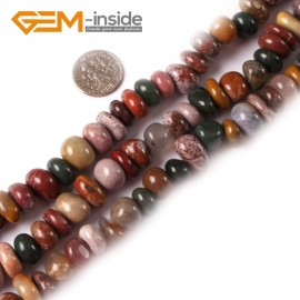 "G3982 ocean jasper 8-10x12-14mm Freeform Potato Gemstone Jewelry Making Loose Beads Strand 15"" Natural Stone Beads for Jewelry Making Wholesale"
