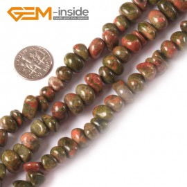 "G3990 unakite 8-10x12-14mm Freeform Potato Gemstone Jewelry Making Loose Beads Strand 15"" Natural Stone Beads for Jewelry Making Wholesale"