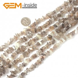 "G4068 Natural Gray Moonstone 5-8mm Multi-Color Chips Gemstone Loose Beads Strand 15""& 34"" Free Shipping Natural Stone Beads for Jewelry Making Wholesale"