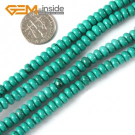 "G4079 3x12mm Rondelle Gemstone Natural Turquoise Loose Beads Strand 15"" Jewelery Making Beads Natural Stone Beads for Jewelry Making Wholesale"