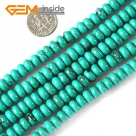 "G4076 4x8mm Rondelle Gemstone Natural Turquoise Loose Beads Strand 15"" Jewelery Making Beads Natural Stone Beads for Jewelry Making Wholesale"