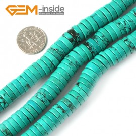 "G4080 3x10mm Rondelle Gemstone Natural Turquoise Loose Beads Strand 15"" Jewelery Making Beads Natural Stone Beads for Jewelry Making Wholesale"