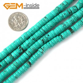 "G4081 3mmx6mm Rondelle Gemstone Natural Turquoise Loose Beads Strand 15"" Jewelery Making Beads Natural Stone Beads for Jewelry Making Wholesale"