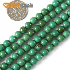 """G4084 6mm Natural Round Gemstone Old Turquoise Jewelry Making Stone Loose Beads 15""""4-25mm Natural Stone Beads for Jewelry Making Wholesale`"""
