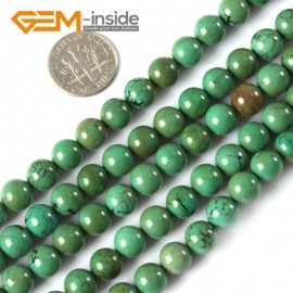 "G4085 8mm Natural Round Gemstone Old Turquoise Jewelry Making Stone Loose Beads 15""4-25mm Natural Stone Beads for Jewelry Making Wholesale`"