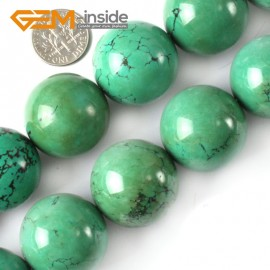"G4092 25mm Natural Round Gemstone Old Turquoise Jewelry Making Stone Loose Beads 15""4-25mm Natural Stone Beads for Jewelry Making Wholesale`"