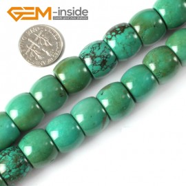 "G4097 12x14mm Natural Rondelle Gemstone Old Turquoise Jewelry Making Loose Beads strand 15"" Natural Stone Beads for Jewelry Making Wholesale"