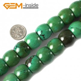 "G4098 18x14mm Natural Rondelle Gemstone Old Turquoise Jewelry Making Loose Beads strand 15"" Natural Stone Beads for Jewelry Making Wholesale"