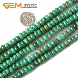 """G4100 4x8mm Natural Rondelle Gemstone Old Turquoise Jewelry Making Loose Beads strand 15"""" Natural Stone Beads for Jewelry Making Wholesale"""