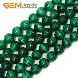 """G4128 10mm Round Gemstone Natural Malachite Grade A Jewelry Making Stone Loose Beads 15"""" Natural Stone Beads for Jewelry Making Wholesale"""