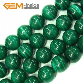 "G4129 11mm Round Gemstone Natural Malachite Grade A Jewelry Making Stone Loose Beads 15"" Natural Stone Beads for Jewelry Making Wholesale"