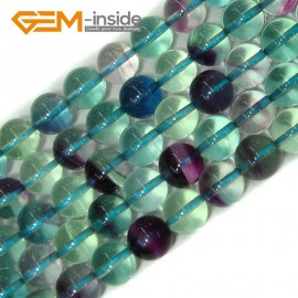 "G4154 8mm Round Gemstone Natural Fluorite Beads Jewelry Making Stone Beads Strand 15"" Natural Stone Beads for Jewelry Making Wholesale"