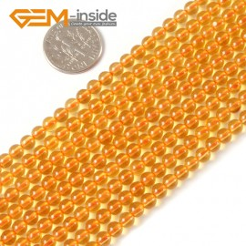"G4157 4mm Round Citrine Beads Jewelry Making Gemstone Loose Beads Strand 15"" 2-14mm Natural Stone Beads for Jewelry Making Wholesale"