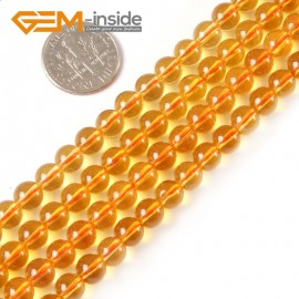 """G4158 6mm Round Citrine Beads Jewelry Making Gemstone Loose Beads Strand 15"""" 2-14mm Natural Stone Beads for Jewelry Making Wholesale"""