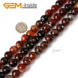 "G4276 12mm Round Faceted Gemstone Dream Lace Agate Crafts Making Beads Strand 15"" Natural Stone Beads for Jewelry Making Wholesale"