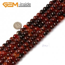 "G4277 10mm Round Faceted Gemstone Dream Lace Agate Crafts Making Beads Strand 15"" Natural Stone Beads for Jewelry Making Wholesale"