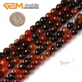 "G4278 8mm Round Faceted Gemstone Dream Lace Agate Crafts Making Beads Strand 15"" Natural Stone Beads for Jewelry Making Wholesale"