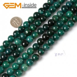 "G4285 10mm Round Gemstone Green Crackle Agate Beads Jewelry Making Loose Spacer Beads 15"" Natural Stone Beads for Jewelry Making Wholesale"