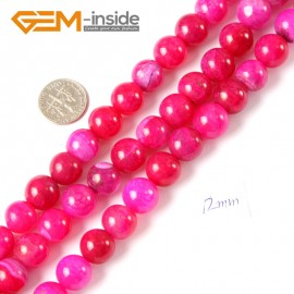 """G4291 12mm Round Plum Crackle Agate Loose Beads Strand15"""" 6-12mm Gemstone Crafts Making Natural Stone Beads for Jewelry Making Wholesale"""