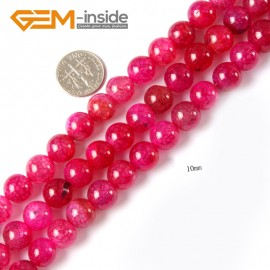 "G4292 10mm Round Plum Crackle Agate Loose Beads Strand15"" 6-12mm Gemstone Crafts Making Natural Stone Beads for Jewelry Making Wholesale"