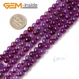 "G4295 6mm Round Gemstone Purple Crackle Agate Jewelry Crafts Making Loose Beads Strand 15"" Natural Stone Beads for Jewelry Making Wholesale"
