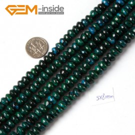 "G4328 5x8mm Roundel/Rondelle Gemstone Chrysocolla Jewelry Making Stone Beads Strand 15"" Natural Stone Beads for Jewelry Making Wholesale"
